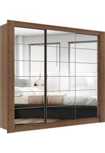 Guarda-Roupa Casal Com Espelho Buritama 3 Pt 2 Gv Rustic