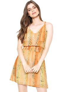 Vestido Ellus Georgette Amarelo