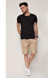 Bermuda Jeans Zait Teodoro Caqui Marrom