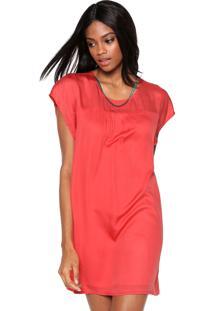 Vestido Ellus Curto Metal Rosa