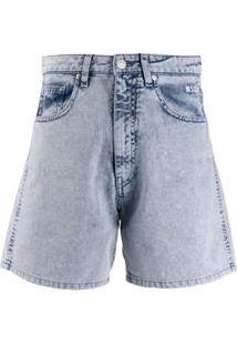 Msgm Short Jeans - Azul
