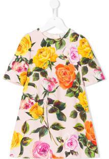 Dolce & Gabbana Kids Vestido Estampado - Amarelo