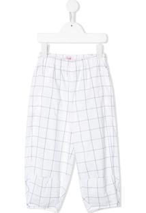 Il Gufo Loose Fit Checked Trousers - Branco