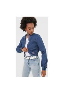 Jaqueta Jeans Guess Tag Azul