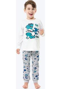Pijama Branco Tubarão Infantil