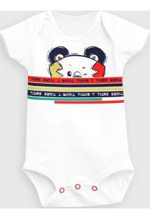 Body Tigor T. Tigre Infantil Estampado Branco