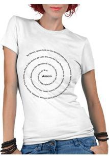 Camiseta Criativa Urbana Oração Pai Nosso Religiosa Gospel - Feminino