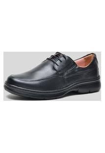 Sapato Conforto Ded Calçados Com Cadarço Preto