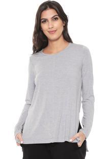 Camiseta Liz Easywear Recorte Cinza