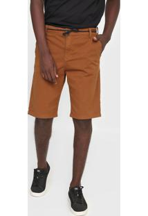 Bermuda Sarja Quiksilver Chino Everyday Caramelo