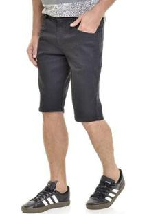 Bermuda Jeans Lemier Collection Slim Masculina - Masculino-Azul