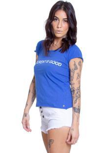 Camiseta Algodão Le Julie Azul