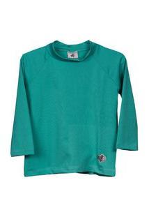 Camisa Peixinho Dourado Filtro Uv50 Verde