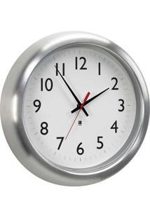 Relógio De Parede Station Alumínio 31,8 Cm Umbra