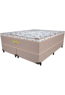 Cama Box Queen Martin Taylor - Pelmex - Branco / Marrom / Camurça