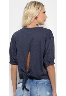 Camiseta Triton Estampada Feminina - Feminino-Marinho