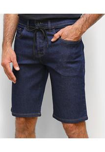Bermuda Jeans Element Essentials Masculina - Masculino-Marinho