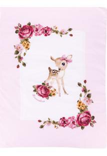 Monnalisa Cobertor Com Estampa 'Deer' - Branco