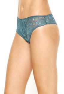 Calcinha Calvin Klein Underwear Fio Dental Renda Verde