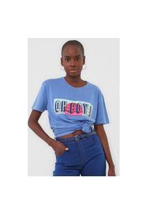 Camiseta Oh, Boy! Logo Azul