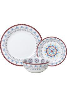 Aparelho De Jantar De Porcelana Super White Mandala Wolff – 18 Peças