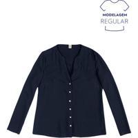 67d8b3c9d3 Camisa Feminina Básica Em Tecido De Viscose Maquinetada Hering