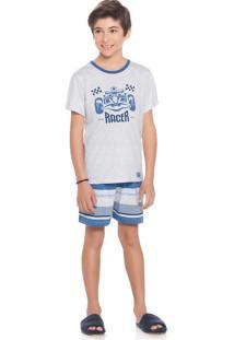 Pijama Tiago Infantil Azul/06