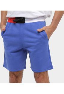 Bermuda Moletom Otn Detalhe Cintura Masculina - Masculino-Azul Royal