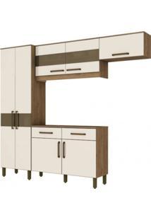 Cozinha Compacta Henn Briz B116.106 Rustico/Off White Se