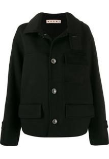 Marni Double-Face Short Coat - Preto
