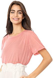 Camiseta Coca-Cola Jeans Transparencia Rosa