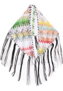 Missoni Cachecol De Crochê Com Franjas - Branco