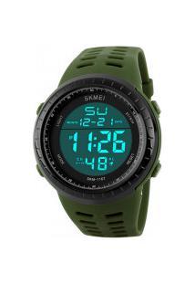 Relógio Skmei Digital -1167- Verde Militar