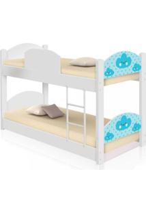 Beliche Infantil Nuvem Menino Com 2 Colchãµes Casah - Azul/Branco - Dafiti