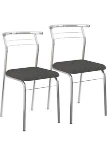 Cadeira 1708 Cromada 02 Unidades Napa/Jeans Carraro