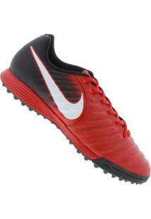dc1293b523d94 Chuteira Society Nike Tiempo X Ligera Iv Tf - Adulto - Vermelho Preto