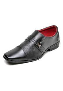 Sapato Social Sem Cadarço Top Flex Preto