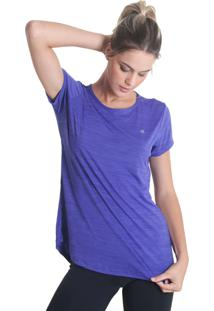 Camiseta Levíssima Mescla - Roxo - Líquido - Tricae