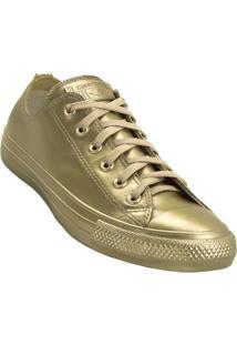 Tênis Converse All Star Ct As Metallic Rubber Ox - Feminino-Dourado
