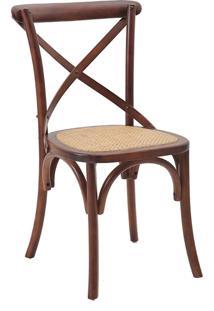 Cadeira Katrina Madeira Escura Rivatti Móveis Marrom