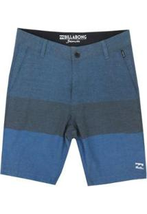Bermuda Passeio Billabong Walk Crossfire X Masculina - Masculino-Azul