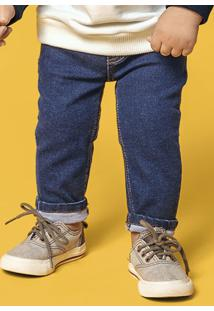 Calça Bebê Menino Com Lavação Escura E Elastano Hering Kids Play Jeans