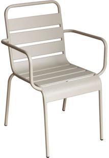 Cadeira Tropical Com Braços Bege