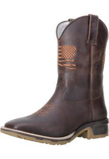 Bota Texana Western Capelli Boots 8176 Cafã© - Marrom - Masculino - Dafiti