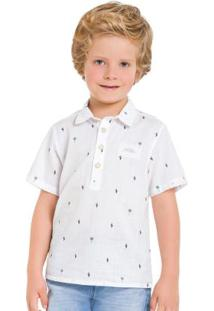Camisa Infantil Branco Milon