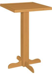 Mesa Bistrô Quadrada Afrodite Nogal Claro 61 Cm