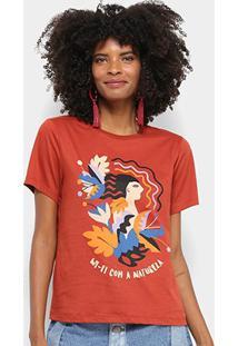 Camiseta Cantão Wi-Fi Natureza Feminina - Feminino