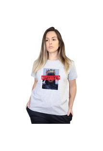 Camiseta Boutique Judith Leader Bitch Riri Cinza