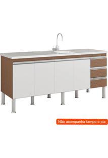 Balcão De Cozinha Ibiza 4 Pt 3 Gv Amêndoa E Branco
