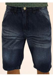 Bermuda Pau A Pique Azul Jeans